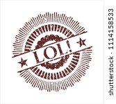 red lol  distress rubber stamp | Shutterstock .eps vector #1114158533