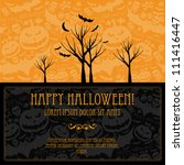 halloween vector card  or... | Shutterstock .eps vector #111416447