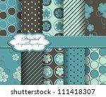 set of flower vector paper for... | Shutterstock .eps vector #111418307