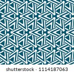 seamless pattern with symmetric ... | Shutterstock .eps vector #1114187063
