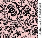 seamless floral pattern.... | Shutterstock .eps vector #1114240643