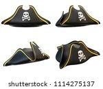 pirate hat various views... | Shutterstock . vector #1114275137