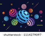 abstract vector background with ... | Shutterstock .eps vector #1114279097