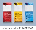 roll up banner template design... | Shutterstock .eps vector #1114279643