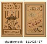 vintage tickets | Shutterstock .eps vector #111428417