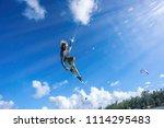 professional kiter makes the... | Shutterstock . vector #1114295483