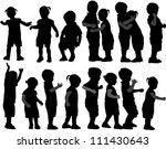 group of children's silhouettes   Shutterstock .eps vector #111430643