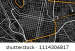 black white map city oaxaca | Shutterstock .eps vector #1114306817