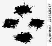 vector set of grunge brush... | Shutterstock .eps vector #1114328267