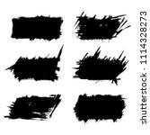 vector set of grunge brush... | Shutterstock .eps vector #1114328273