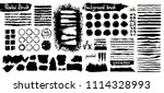 big collection of black paint ...   Shutterstock .eps vector #1114328993