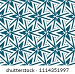 seamless pattern with symmetric ... | Shutterstock .eps vector #1114351997