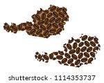 austria    map of coffee bean ... | Shutterstock .eps vector #1114353737