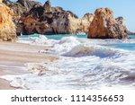 algarve  portugal  a stunning... | Shutterstock . vector #1114356653