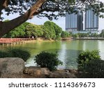 kandawgyi park view | Shutterstock . vector #1114369673