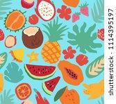 minimal summer trendy vector... | Shutterstock .eps vector #1114395197