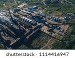aluminum metallurgical plant... | Shutterstock . vector #1114416947