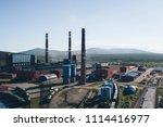 aluminum metallurgical plant... | Shutterstock . vector #1114416977