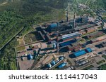 aluminum metallurgical plant... | Shutterstock . vector #1114417043