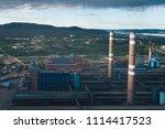 aluminum metallurgical plant... | Shutterstock . vector #1114417523