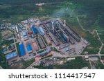 aluminum metallurgical plant... | Shutterstock . vector #1114417547