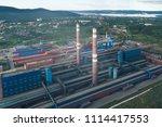 aluminum metallurgical plant... | Shutterstock . vector #1114417553