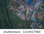 aluminum metallurgical plant... | Shutterstock . vector #1114417583