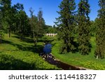 stone bridge and trees in ... | Shutterstock . vector #1114418327