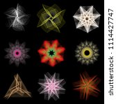 holiday patterns of stars of... | Shutterstock .eps vector #1114427747