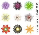 holiday patterns of stars of... | Shutterstock .eps vector #1114427753