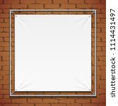wall streamer vinyl flex banner ... | Shutterstock .eps vector #1114431497