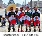 moscow  russia   june 17  fans... | Shutterstock . vector #1114435643