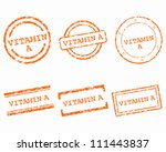 vitamin a stamps | Shutterstock .eps vector #111443837