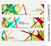 set of three colorful abstract... | Shutterstock .eps vector #111444473