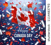 realistic waving national flag... | Shutterstock .eps vector #1114483793