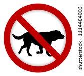 prohibition dog sign ...   Shutterstock . vector #1114484003