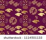 beautiful japanese seamless ... | Shutterstock .eps vector #1114501133