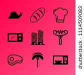 vector icon set about kitchen... | Shutterstock .eps vector #1114509083