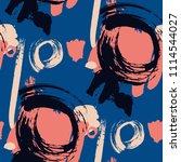 dry brush strokes. seamless... | Shutterstock .eps vector #1114544027