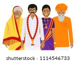 family and social concept.... | Shutterstock .eps vector #1114546733