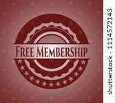 free membership red emblem | Shutterstock .eps vector #1114572143
