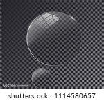 transparent glass. white pearl  ... | Shutterstock .eps vector #1114580657