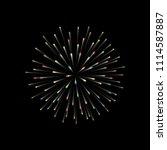 fireworks. new year celebration.... | Shutterstock .eps vector #1114587887