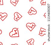 heartbeat line with heart icon...   Shutterstock .eps vector #1114600307