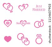 simple monochrome wedding...   Shutterstock .eps vector #1114607903