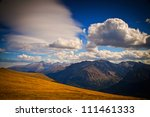 longs peak touches the clouds... | Shutterstock . vector #111461333