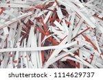 pile of shredded documentary... | Shutterstock . vector #1114629737