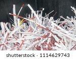 pile of shredded documentary... | Shutterstock . vector #1114629743