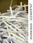 pile of shredded documentary... | Shutterstock . vector #1114629767