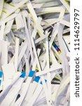 pile of shredded documentary... | Shutterstock . vector #1114629797
